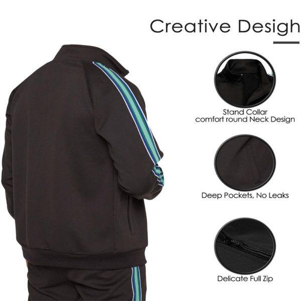 blue polyester tracksuit